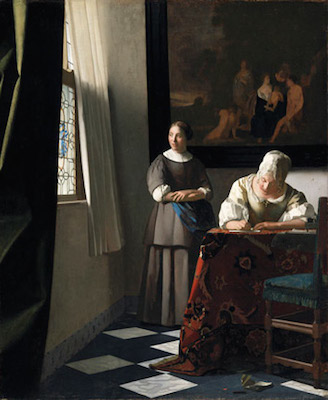 Woman_Writing_A_Letter_With_Her_Maid